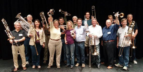 Brass Ensemble workshop with John Engelkes 2017